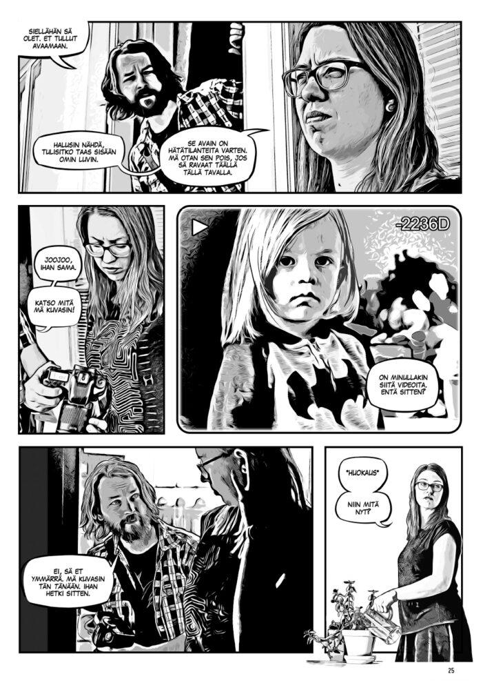 Avi Heikkinen: Valotusaika - sarjakuva sivu