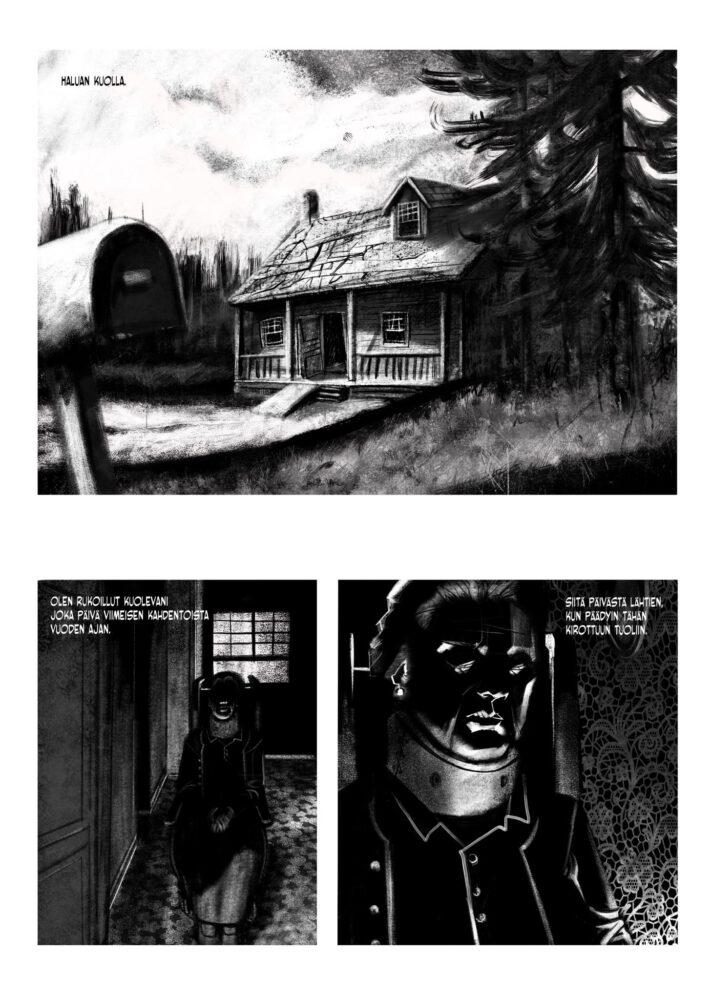 Kauhusarjakuva Kaamio - Kuolleiden syleily (Lord Violent) -sivu