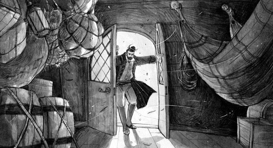 Jamis avaa oven tuulen puhaltaessa sisään