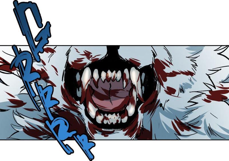 Lähikuva Luminen paljastetuista hampaista susimuodossa