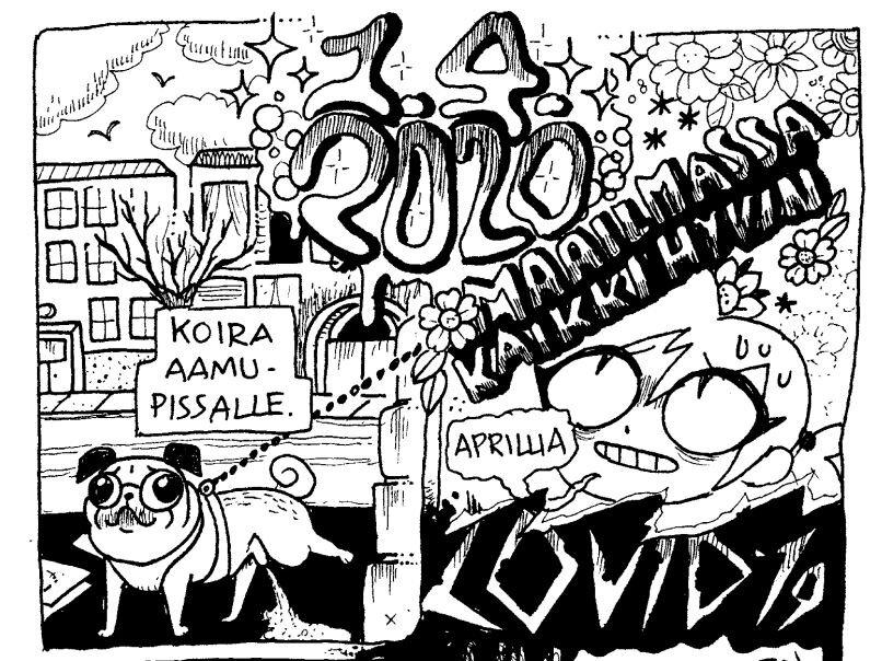 Tea Tauriainen aprillipäivänä 2020