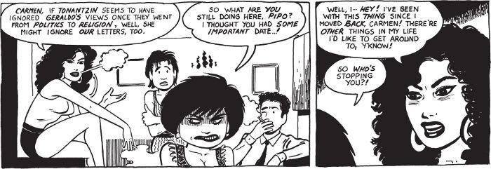 Kuvassa naishahmot tekevät keskenään päätöksiä