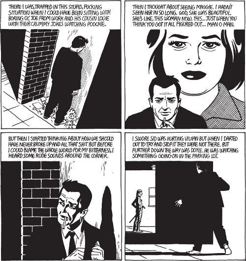 Neljän ruudun esimerkki film noir -tyylistä