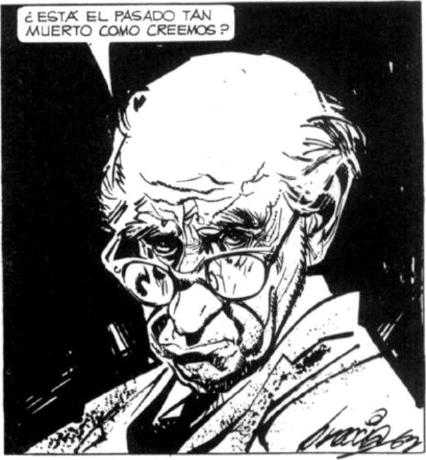 Kuvassa Alberto Breccian peilikuvansa perusteella luoma Mort Cinder